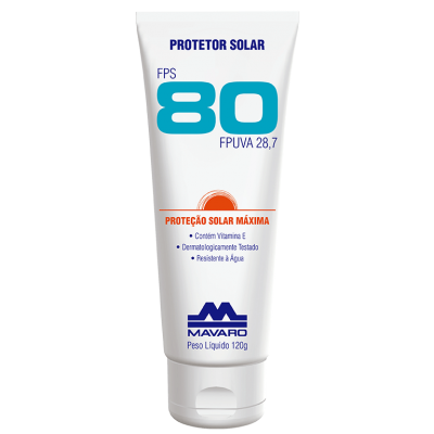 Protetor Solar Profissional FPS 80 - MAVARO