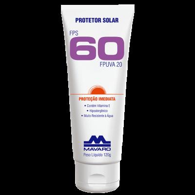 Protetor Solar Profissional FPS 60 - MAVARO