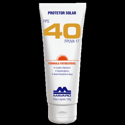 Protetor Solar Profissional FPS 40 - MAVARO