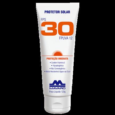 Protetor Solar Profissional FPS 30 - MAVARO