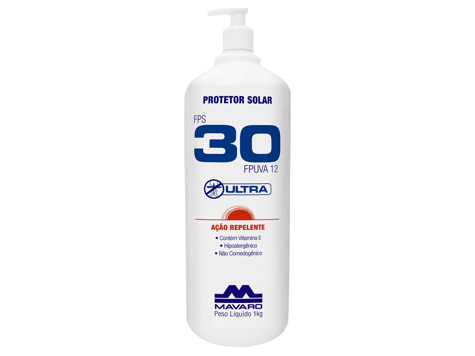 Protetor Solar com Repelente FPS 30 ULTRA é um protetor solar FPS 30 eficaz contra a ação nociva das radiações UVA e UVB.