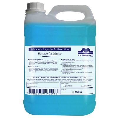 Sabonete líquido antisséptico bacteriostático.