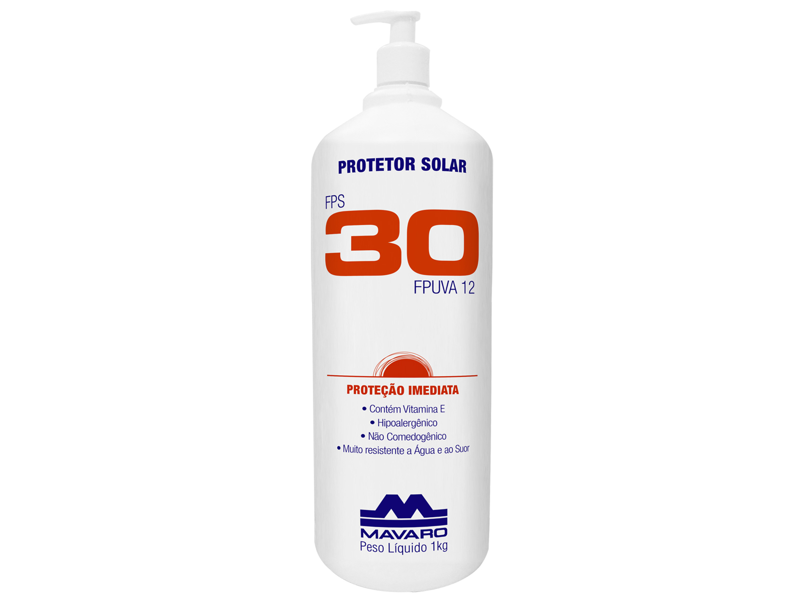 Protetor Solar FPS 30 eficaz contra a ação nociva das radiações UVA e UVB. Contém filtros solares com proteção de nível 30, protegendo a pele 30 vezes mais do que se o mesmo não tivesse sido aplicado.