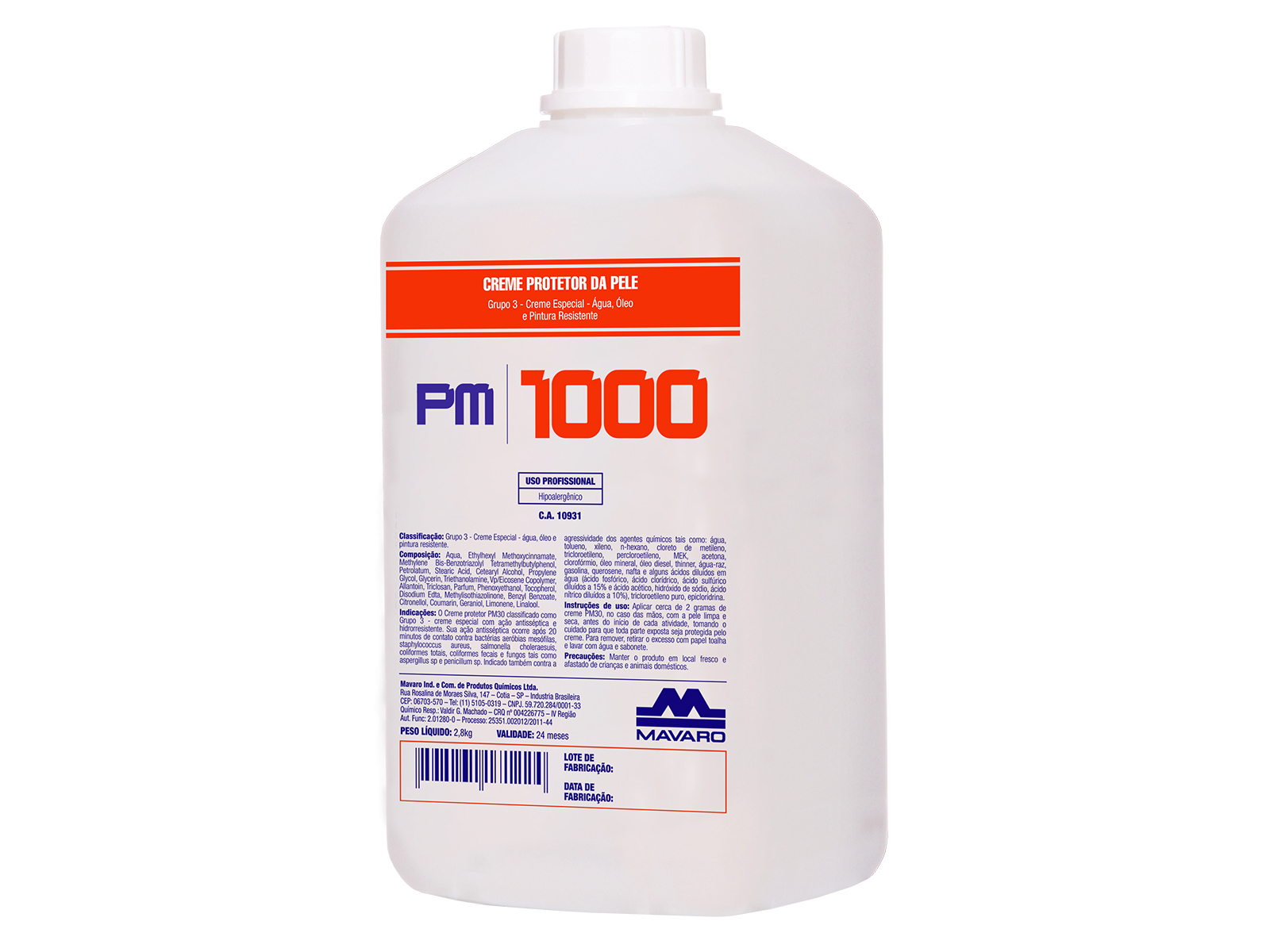 Creme de Proteção Profissional PM 1000